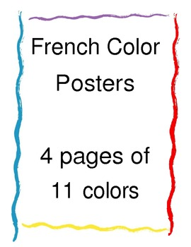 French Language Color Posters