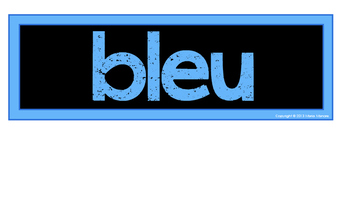 French Language Color Words Classroom Signs {Black Series}