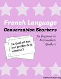 French Language Conversation Starters ~ Beginner to Intermediate