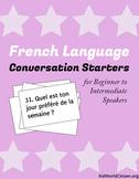 French Language Conversation Starters ~ Beginner to Intermediate