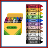 French Language Crayons (High resolution)
