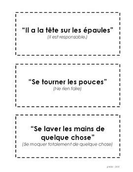 French Language Expressions - Dictée pack 2