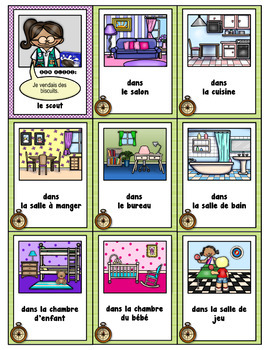 "French Vocabulary & Grammar Game—""Parts of the Home"" Mystery Vocabulary Game"