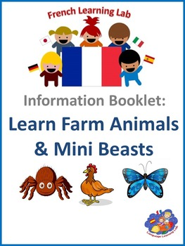French Information booklet - Use Farm Animals & Minibeasts in phrases - Level 3