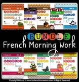 French Morning Work Worksheet BUNDLE | Petit travail du matin (French bell work)