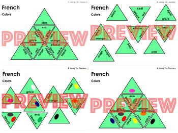 Tarsia Puzzles Bundle: French Language Skills