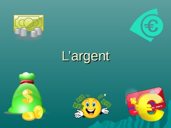 French - L'argent - Money vocabulary
