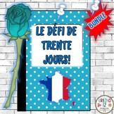 French: Le  Défi de 30 Jours! BUNDLE