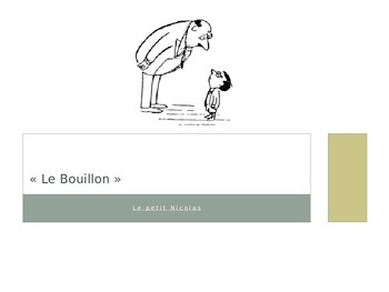 French - Le Petit Nicolas - Le Bouillon vocabulary