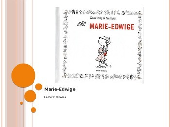 French - Le Petit Nicolas - Marie Edwige vocabulary