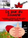 French: Le jour du Souvenir: 10 Activités, évaluation, bricolage, 70 pages
