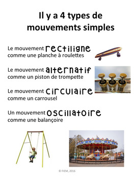 "French: ""Le mouvement: structures et mécanismes, Grade 2 Science"", Immersion"