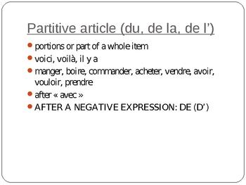 French - Le partitif