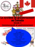 French: Le système de gouvernement au Canada, Gr.5, 105  slides