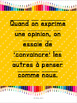 French: Le texte d'opinion: posters, rubriques, graphic organizers