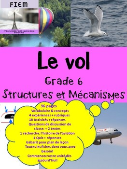 "French: ""Le vol"", Sciences, Grade 6, 96 fiches: REVISED"