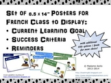 French Learning Goal, Success Criteria Posters