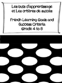 French Learning Goals and Success Criteria