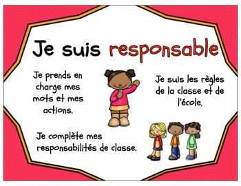 French Learning Skills and Work Habits / Habilités et habitudes de travail