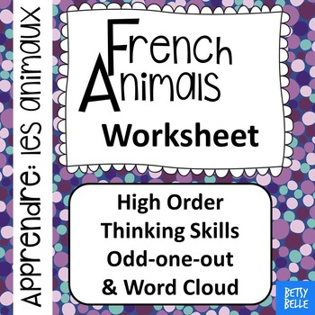 French, Animals: Worksheet