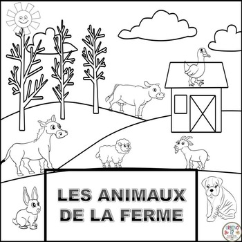 French: Les Animaux de la Ferme Coloring