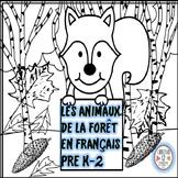 French Les Animaux de la Forêt Coloring
