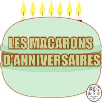 Affiches d'Anniversaires  aux Macarons