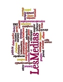 French Les Medias/Media Vocabulary Word Cloud