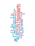 French Les Transports/Transportation Vocabulary Word Cloud
