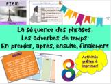 French: Les adverbes de temps: Activités, Cartes concepts, étiquettes