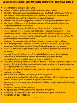 "French: ""Les cellules"", Sciences, Grade 8, 120 slides (The FULL BUNDLE)"