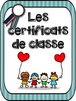 "French: ""Les certificats de classe"", 28 certificats, French"