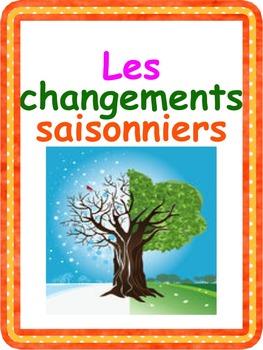 """French: """"Les changements saisonniers"""", Cartes éclairs et activités, Immersion"""