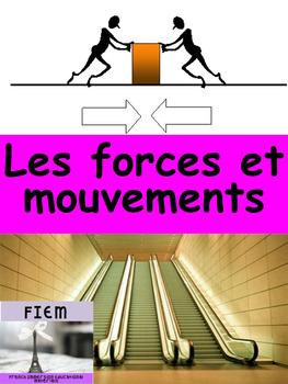 """French: """"Les forces et mouvements"""", Cartes éclairs/expérie"""
