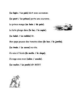 French: Les mots en IN/ AIN / AI