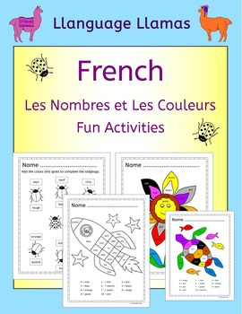 French Numbers and Colors - Les nombres et les couleurs - Fun Activities