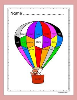 French Numbers and Colors - Les nombres et les couleurs - Fun Activities