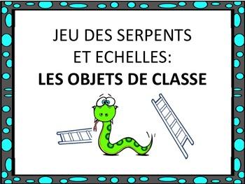 """French: """"Les objets de classe: Serpents et échelles"""", Game"""