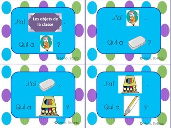 French - Les objets de la classe / Classroom Objects
