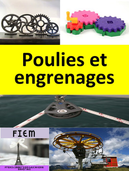 French: Les poulies et engrenages, Cartes éclairs, French
