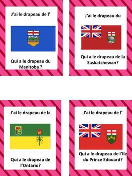 """French: Les provinces/territoires et capitales du Canada, """"J'AI ... QUI A? Game"""