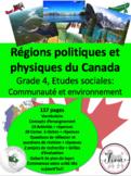 """French: """"Les régions physiographiques et politiques du Canada"""""""