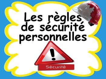 """French: """"Les règles de sécurité personnelles"""", Etiquettes, French"""