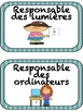 """Testimony de classe: """"Les responsabilités de classe"""", Etiquettes"""
