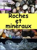 """French: """"Les roches et minéraux"""", Cartes éclairs & activité, Science, Grade 4"""