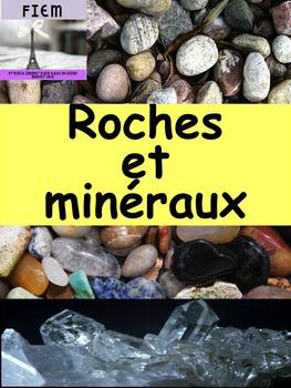 """French: """"Les roches et minéraux"""", Cartes éclairs, activité"""