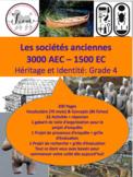 """French: """"Les sociétés anciennes 3000BCE-1500CE"""" UPDATED"""