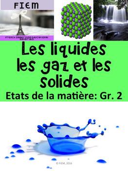 French: Les solides, liquides, gaz: La matière, Etiquettes