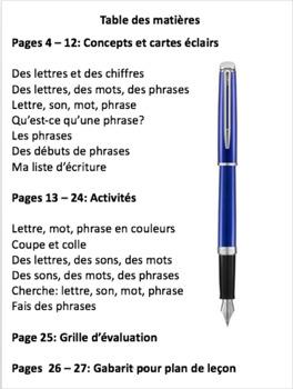 French: Les sons, les mots, les phrases, 27 pages, Primaire