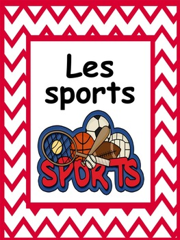 French: Les sports, cartes éclairs, Core French & French Immersion